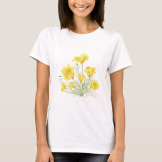 Original Watercolor California Poppy Flower T-Shirt