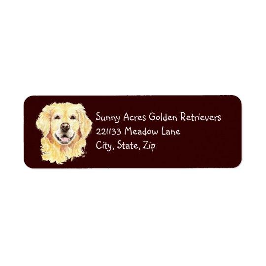 Original Watercolor Golden Retriever, Dog Pet