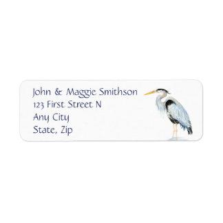 Original Watercolor Great Blue Heron Bird