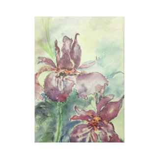 Original Watercolor of Flowers Canvas Print