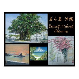 Original Watercolor Painting Postcard Okinawa