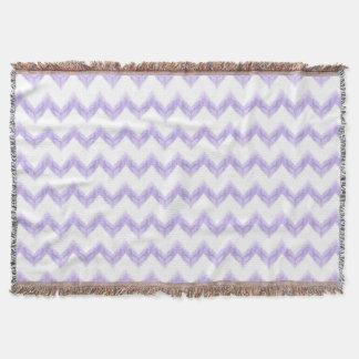 original watercolor purple chevron zigzag throw blanket