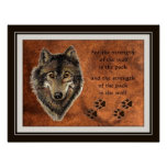 Original Watercolor Wolf & Pack Quote Poster