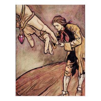 Original watercolour illustration for Gulliver's Postcard