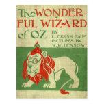 Original wizard of Oz Cover Postcard