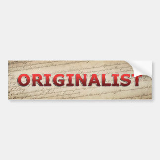 Originalist Bumper Sticker