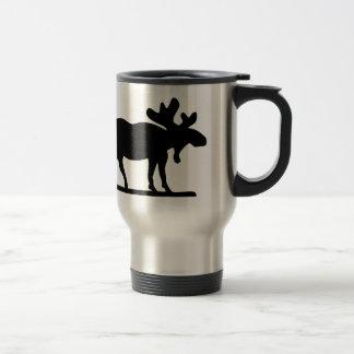Orignaux sur le lâche mug de voyage en acier inoxydable