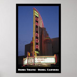Orinda Theatre 11x17 Poster
