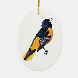 Oriole Ceramic Ornament
