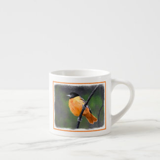 Oriole Painting - Original Bird Art Espresso Cup