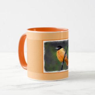 Oriole Painting - Original Bird Art Mug