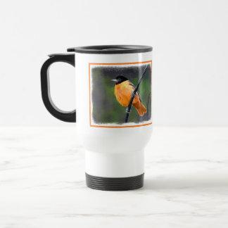 Oriole Painting - Original Bird Art Travel Mug