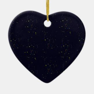 Orion constellation wallpaper ceramic heart ornament