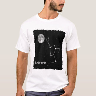 Orion constellation with full moon T-Shirt