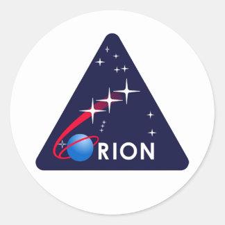 Orion Crew Module Classic Round Sticker