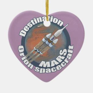Orion destination Mars Ceramic Heart Ornament