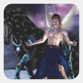 Orion Fairy wizard Square Sticker