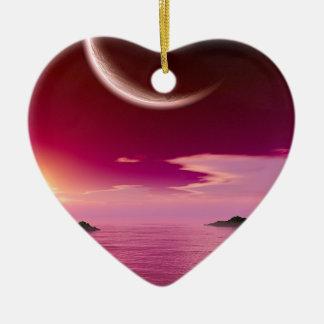 Orion Keys Ceramic Heart Ornament