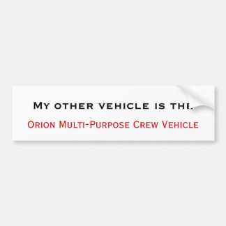 Orion MPCV Bumper Sticker