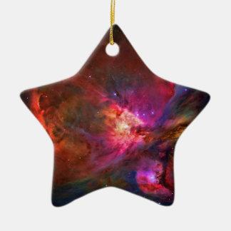 Orion Nebula and Trapezium Stars Ceramic Ornament