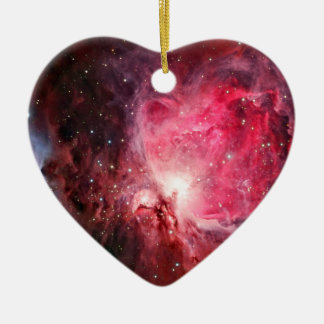 Orion nebula ceramic heart ornament