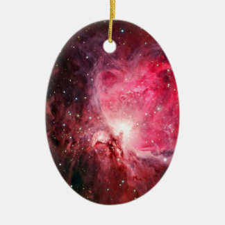 Orion nebula ceramic oval ornament