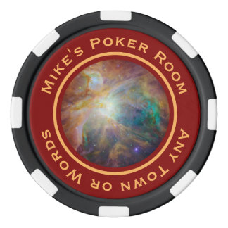 Orion Nebula Chaos Personalized Set Of Poker Chips