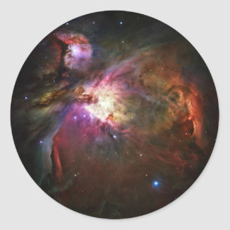 Orion Nebula Classic Round Sticker