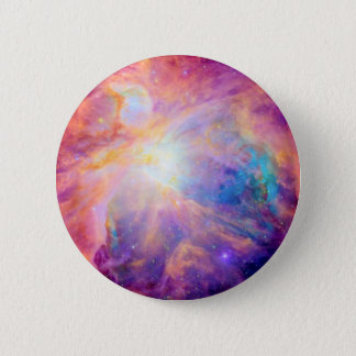 Orion Nebula Colorful Pink Purple 2 Inch Round Button