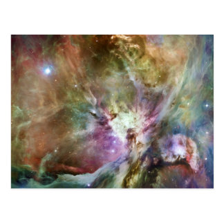Orion Nebula Composition from Hubble and Spitzer Postcard