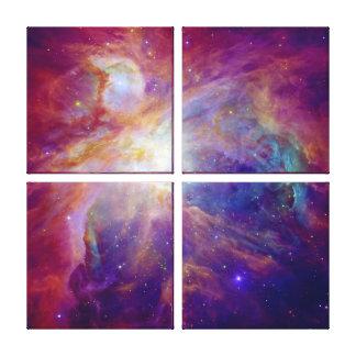 Orion Nebula fuchsia pink NASA Canvas Print