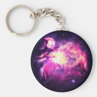 Orion Nebula Hauntingly Beautiful Purple Basic Round Button Keychain