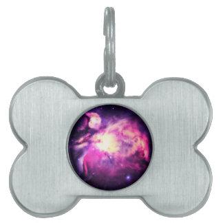 Orion Nebula Hauntingly Beautiful Purple Pet Tag