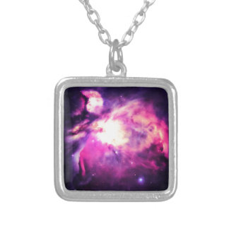 Orion Nebula Hauntingly Beautiful Purple Silver Plated Necklace