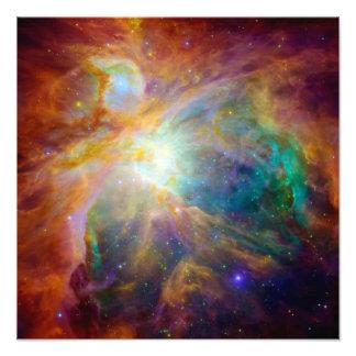 Orion Nebula Hubble Spitzer Telescopes Photograph