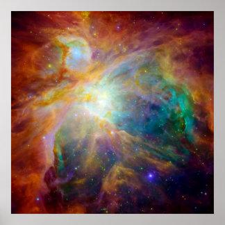 Orion Nebula Hubble Spitzer Telescopes Posters
