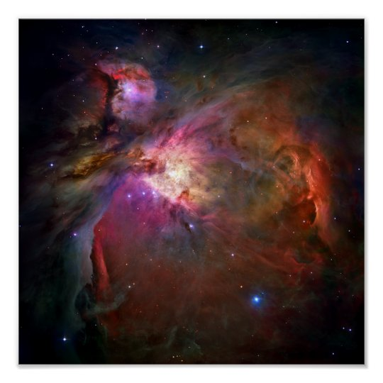 Orion Nebula (Hubble Telescope) Poster