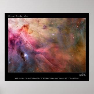 Orion Nebula M42 HST poster