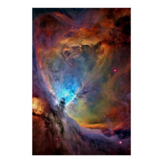 Orion Nebula Outer Space Galaxy Poster