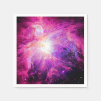 Orion Nebula Pink Purple Galaxy Paper Napkins
