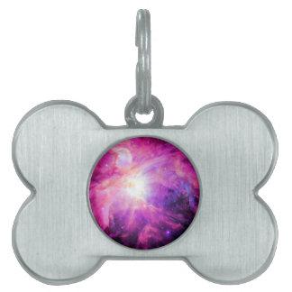 Orion Nebula Pink Purple Galaxy Pet Tag
