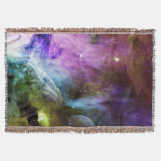 Orion Nebula purple swirls NASA Throw Blanket