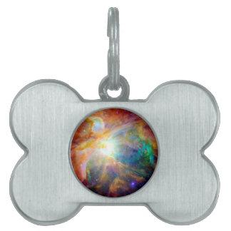 Orion Nebula Rainbow Galaxy Pet ID Tag