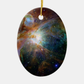 Orion Nebula reddish brown NASA Ceramic Oval Ornament
