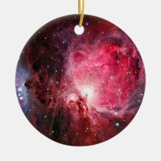 Orion nebula round ceramic ornament