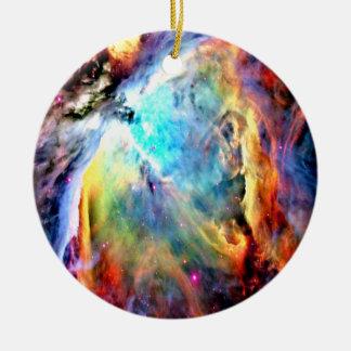 Orion Nebula Round Ceramic Ornament