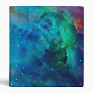 Orion Nebula shimmering blue NASA 3 Ring Binder
