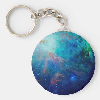 Orion Nebula shimmering blue NASA Keychain