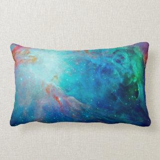 Orion Nebula shimmering blue NASA Lumbar Pillow