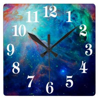 Orion Nebula shimmering blue NASA Square Wall Clock